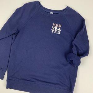 Yep Yea Yes Graphic Relaxed Sweatshirt Old Navy S